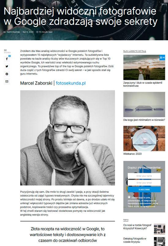 widoczność fotografa w sieci - ilustracja